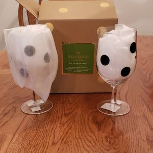 KATE SPADE Tea Glasses with Polka Dots